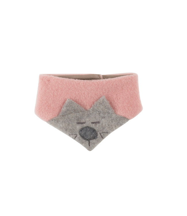 Pure Pure (By Bauer) Pure Pure - écharpe triangulaire chat - GOTS - misty rose