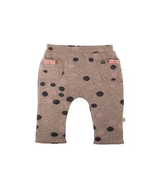 Pure Pure (By Bauer) Pure Pure - pantalon bébé en maille fine - rose/anthracite avec des points