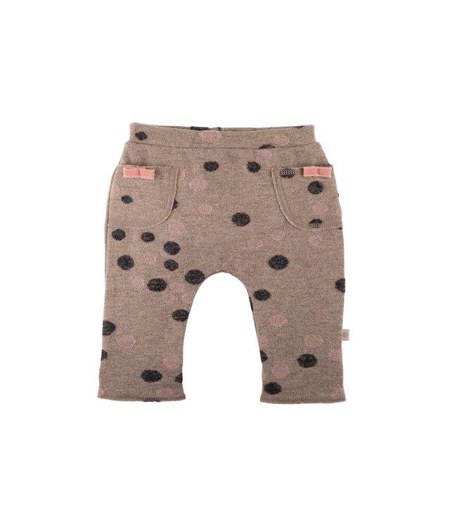 -Pure Pure- by Bauer Pure Pure - pantalon bébé en maille fine - rose/anthracite avec des points