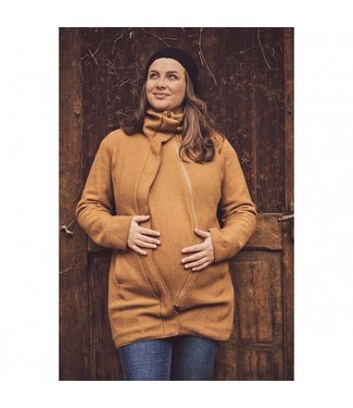 Mamalila Mamalila - Manteau porter bébé en laine Oslo - camel