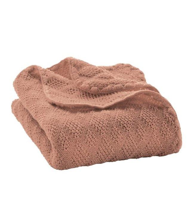 Disana Disana - Couverture bébé en laine - rosé