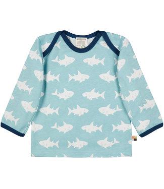 Loud and Proud Shirt Druck langarm - Haifisch - lagoon