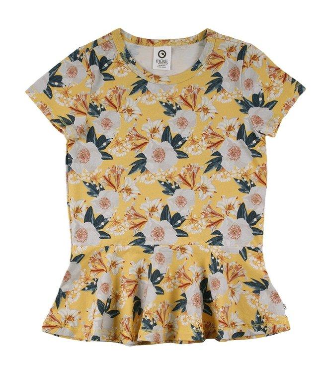 Müsli T-Shirt mit grossen Blumen