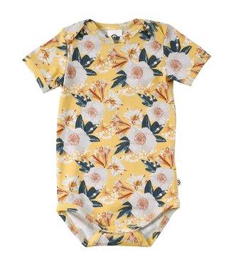 Müsli Body kurzarm - mit grossen Blumen