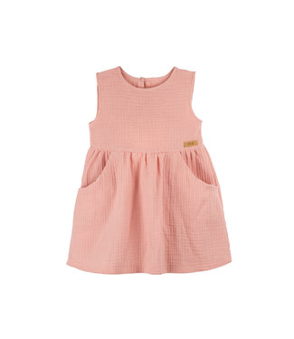 -Pure Pure- by Bauer Mini-Kleid - Mull - dusty apricot