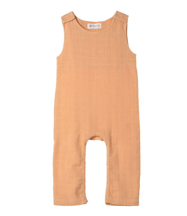 Organic by Feldmann Musselin Kid Playsuit - Farbenspiel - Ocker