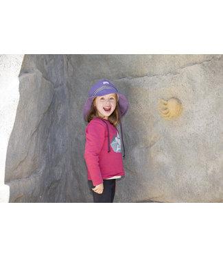 Pick a Pooh Chapeau de soleil pompiers - poignet tricoté violet mystique - UV 80