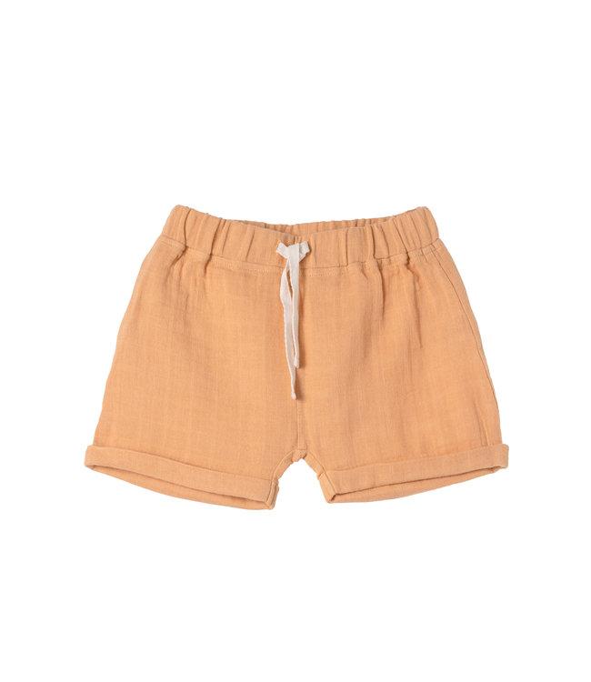 Organic by Feldmann Musselin Jimmy shorts - Farbenspiel - Ocker