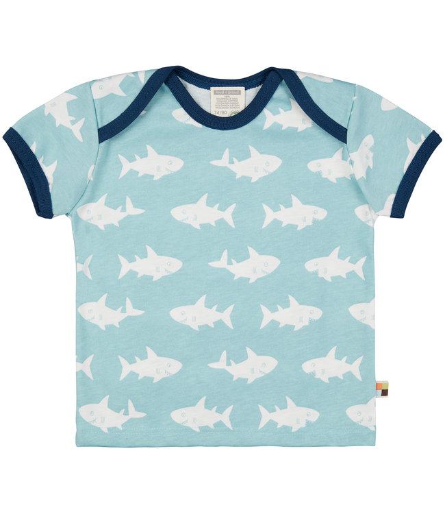 Loud and Proud Shirt Druck kurzarm - Haifisch - lagoon