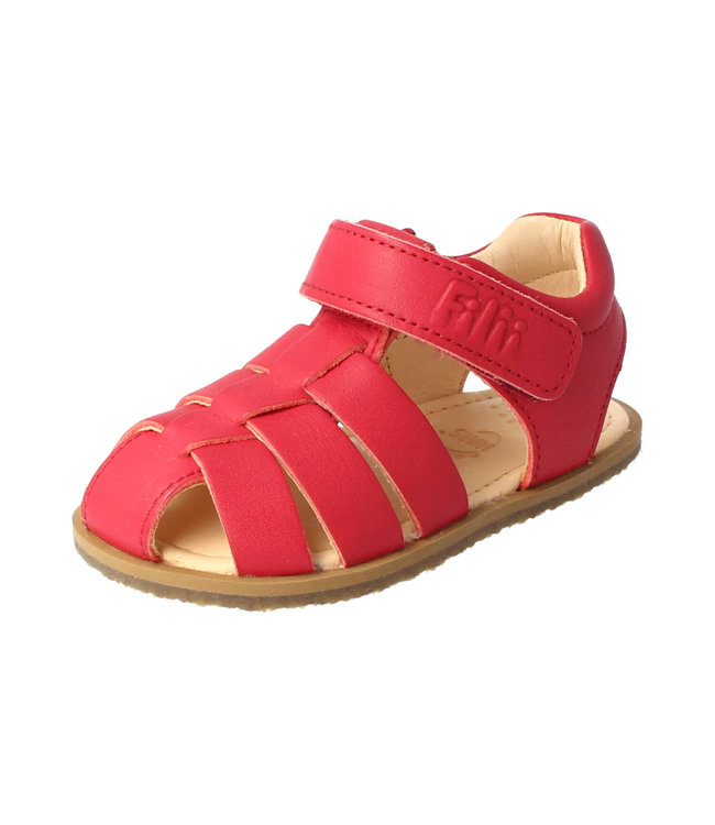 Filii Chaussure pieds nus - sandale Scorpion - velcro feu bio-cuir