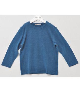 Alkena Kinder Shirt langarm - Bouretteseide - saphir