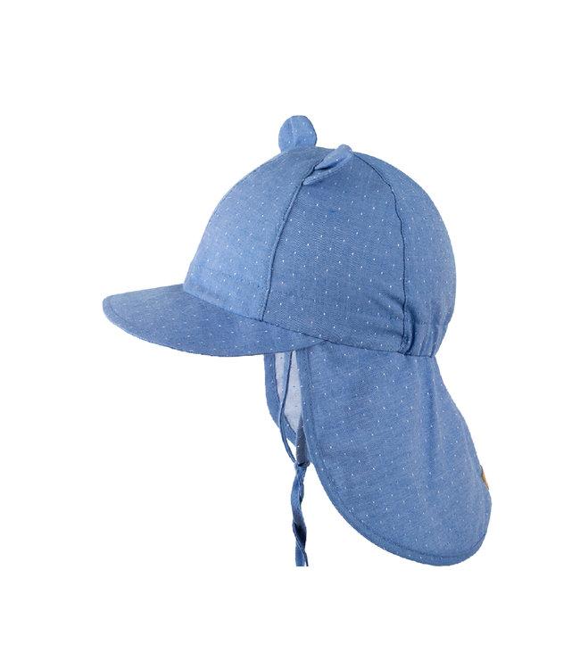 Pure Pure by Bauer Mini-Nackenschutz - mit Ohren - Biobaumwolle - nautic blue