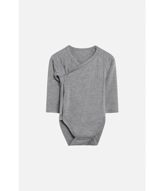 Hust and Claire Buddy - body wrap manches longues - viscose de bambou - gris clair