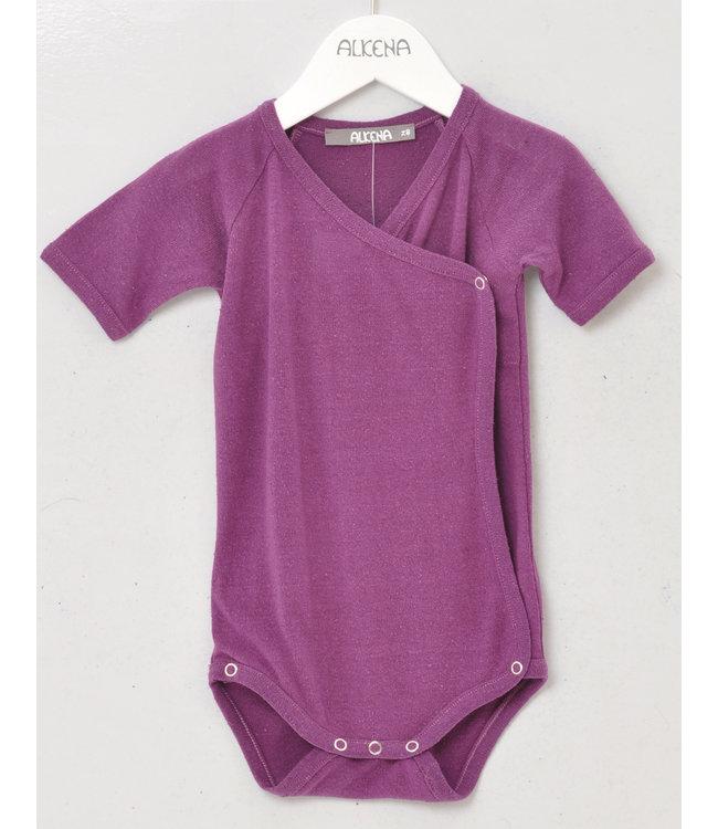 Alkena Body cache-cœur manches courtes - soie bourette bio - violet