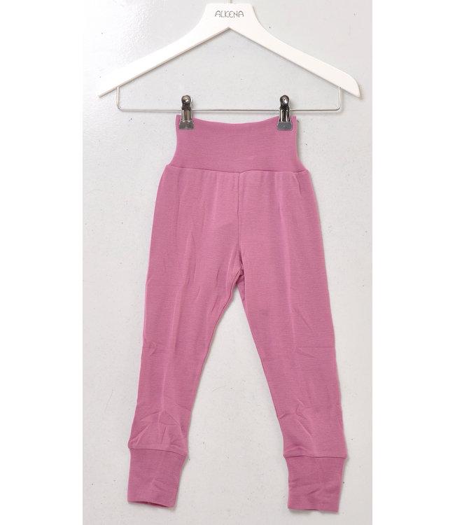 Alkena Pantalon taille ombilicale - laine bio / soie - erika
