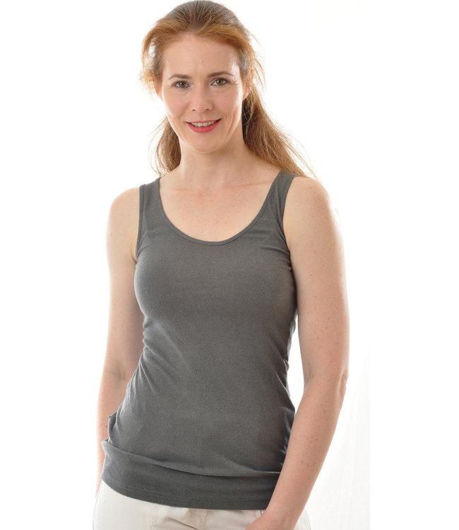 Alkena Top à bretelles Bio Bourette jersey de soie - gris