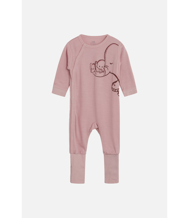 Hust and Claire Moody - pyjama - barboteuses - éléphant - laine - rose