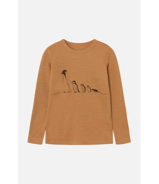 Hust and Claire Awo - chemise manches longues - pingouin - laine - ocre