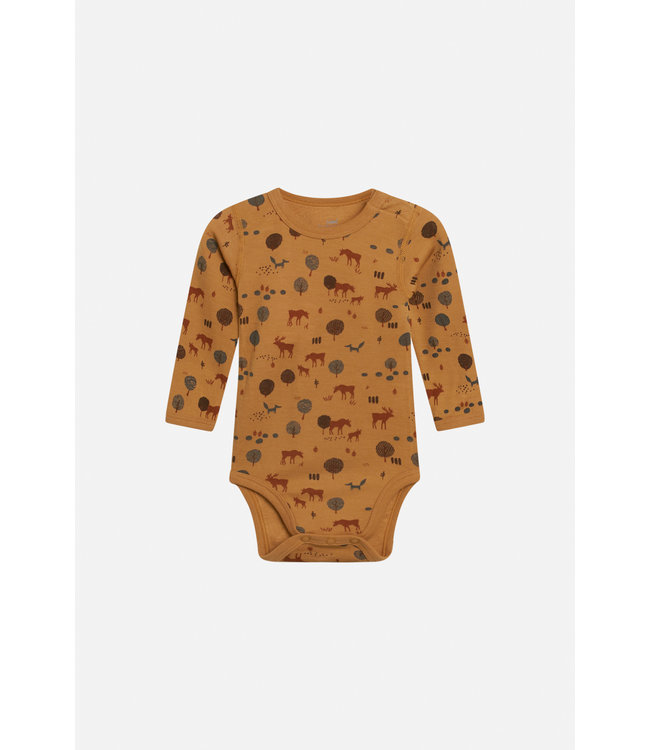 Hust and Claire Baloo - body manches longues - élan - laine / bambou - ocre