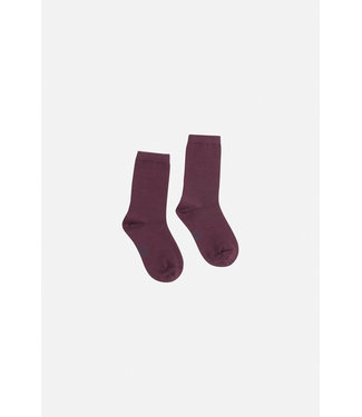 Hust and Claire Foty - Socken - innen Bambus aussen Wolle - dunkelviolett