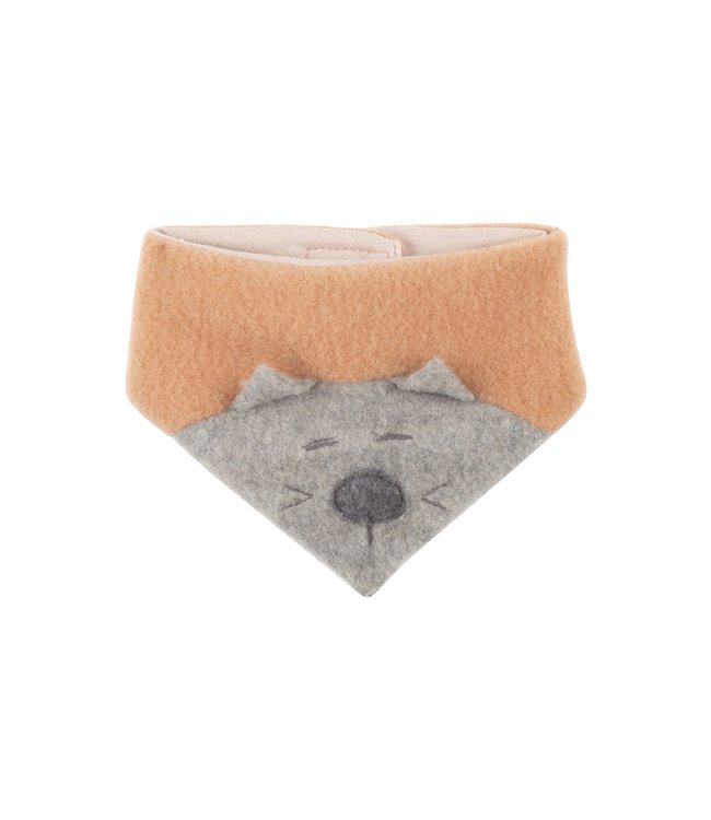 Pure Pure by Bauer Baby-Halstuch - Wollfleece - Katze - dusty-apricot