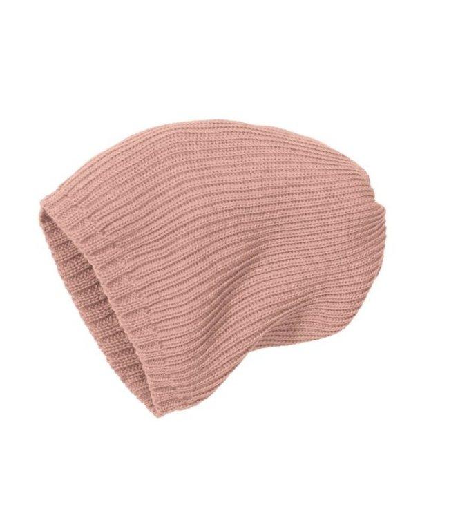 Disana Bonnet tricoté - rosé