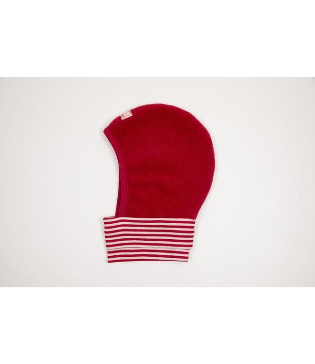 Pick a Pooh Bonnet à enfiler - molleton de laine - rouge chiné