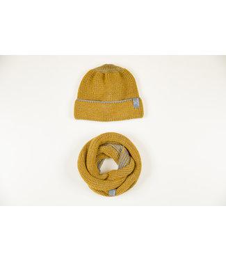 Pick a Pooh Loop/Schal - Merinowolle - Hansen - curry-grau