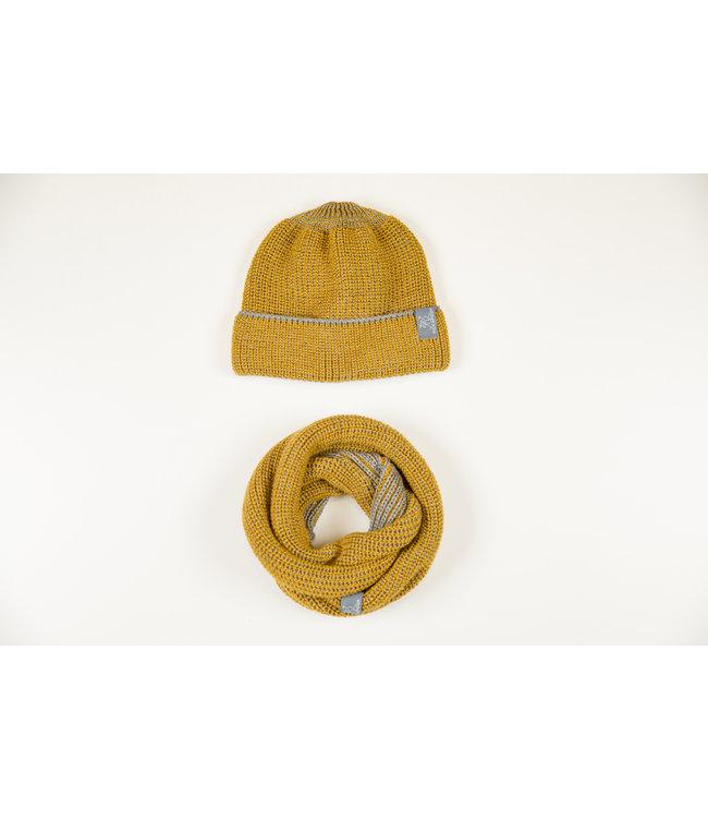 Pick a Pooh Boucle / écharpe - laine mérinos - Hansen - curry-gris