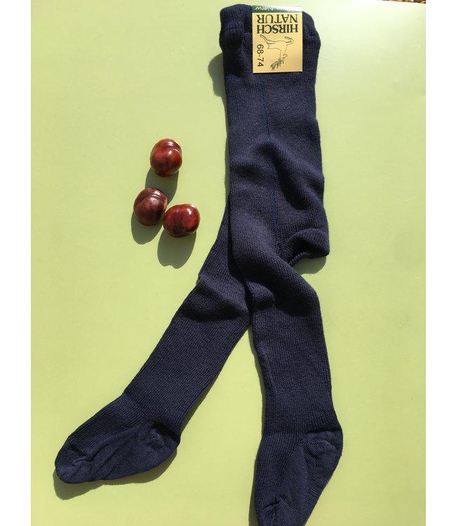 Hirsch Natur Collants - coton / laine - marine