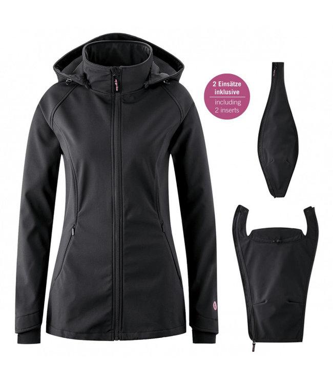 Mamalila mamalila Softshell Babywearing Jacket Allrounder  3 in 1 - schwarz