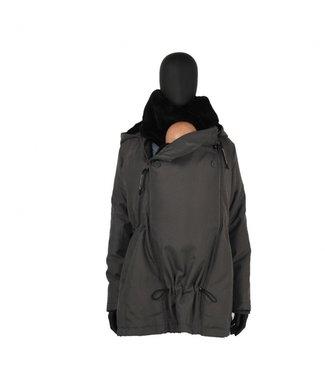 Wombat Veste de portage - veste de grossesse - Wombat Wallaby 2.0 - gris / noir