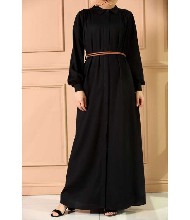 ALLDAY Lange jurk met riem