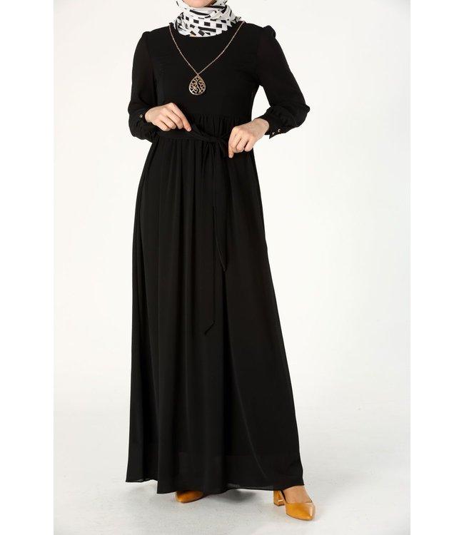 ALLDAY Long dress with a belt