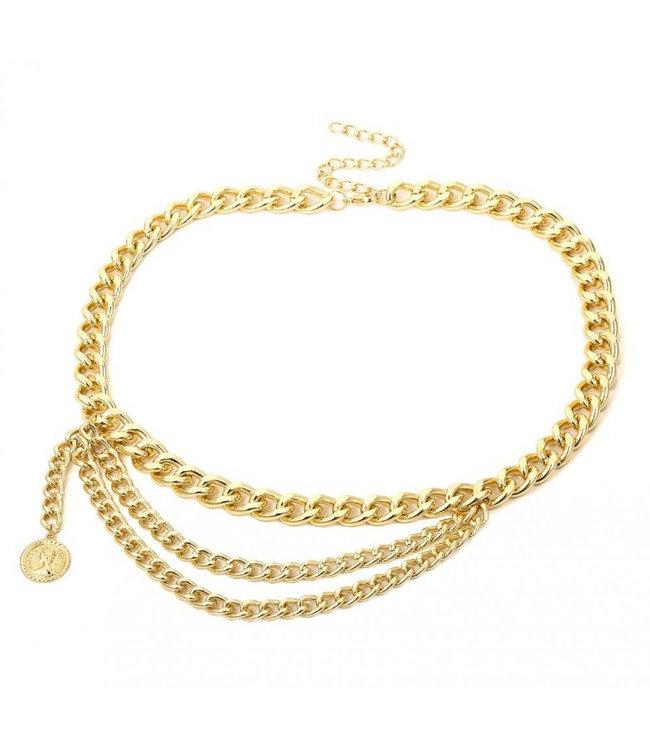 ECARLA Gold color belt