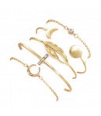 ECARLA Set van 5 in 1 armbanden