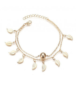 ECARLA Gold colored anklet