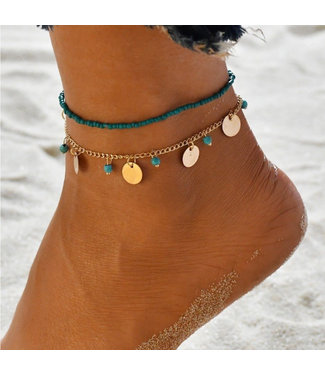 ECARLA Set 2 in 1 ankle bracelet