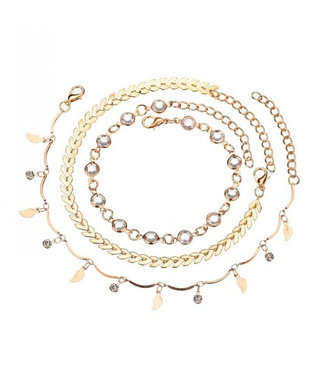 ECARLA Set 3 in 1 ankle bracelets