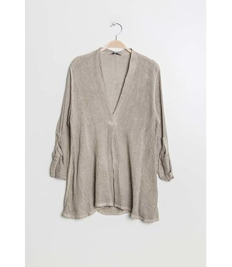 Linnen blouse  - Beige