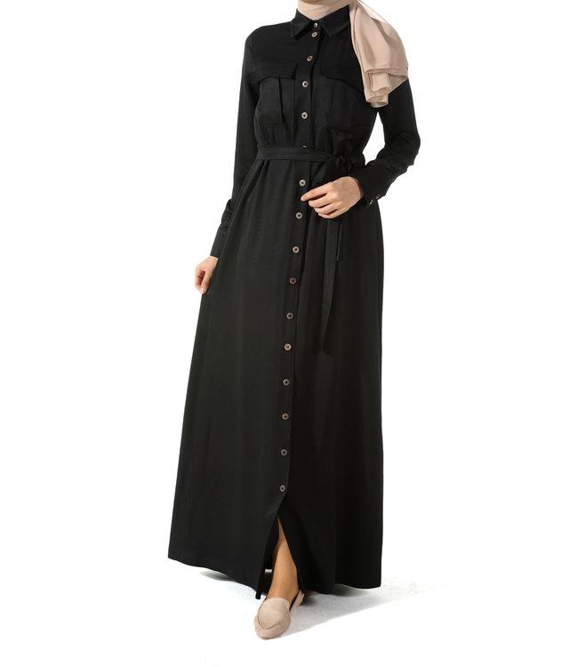 ALLDAY Lange jurk - Zwart