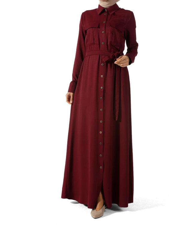 ALLDAY Lange jurk - Bordo