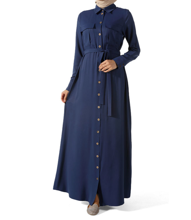 ALLDAY Lange jurk - Indigo