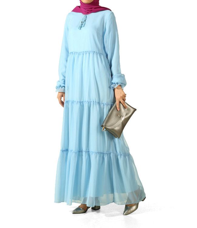 ALLDAY Lange jurk - Baby blauw
