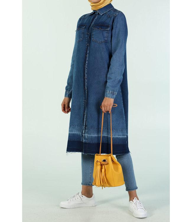 ALLDAY Lange denim tuniek - Blauw