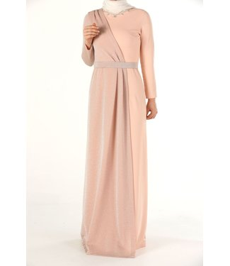 ALLDAY Hijab evening dress - Salmon