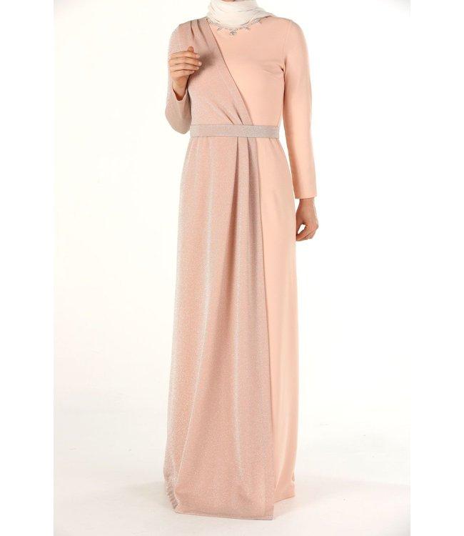ALLDAY Hijab evening dress - Salmon