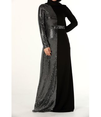 ALLDAY Hijab Evening Dress - Black