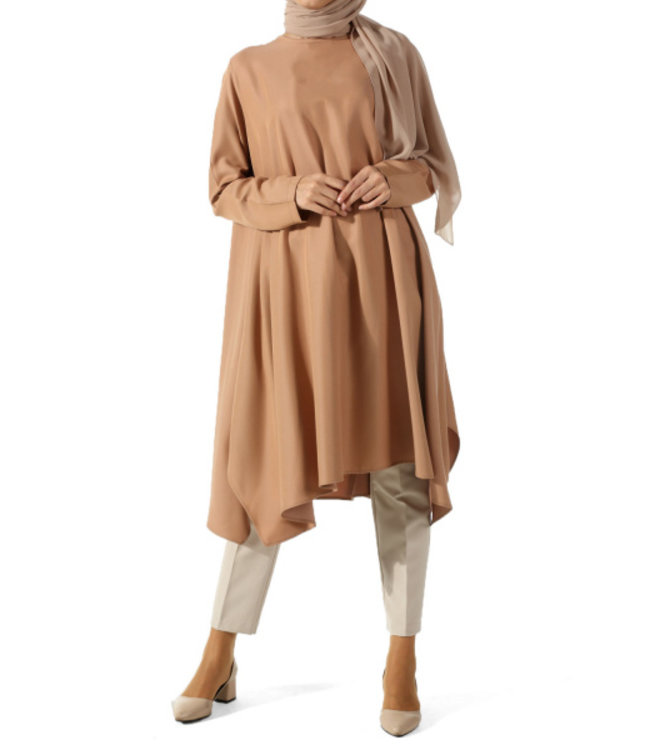ALLDAY Loose-fitting tunic - Coffee
