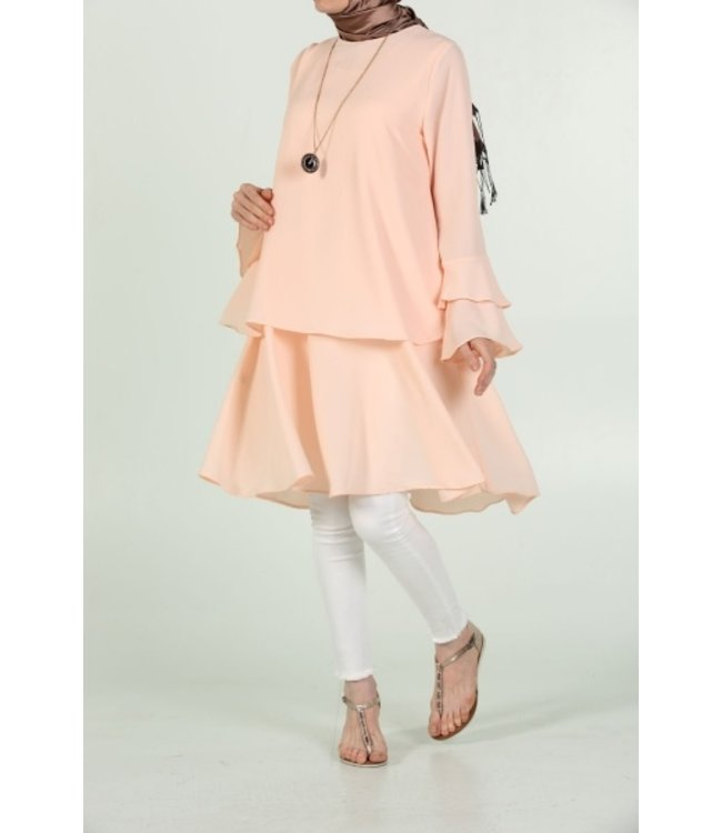 ALLDAY Tunic with volant sleeves - Light pink